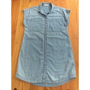 Everlane Short Sleeve Denim Shirt Dress
